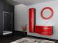Тумба с умывальником BOTTICELLI Vanessa Vndl-110 левая красная 0