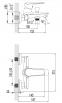 NEMO Смеситель для ванны, хром, 35 мм 15142100 0
