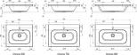 Тумба с умывальныком Ravak SD Chrome II 600/700/800 0