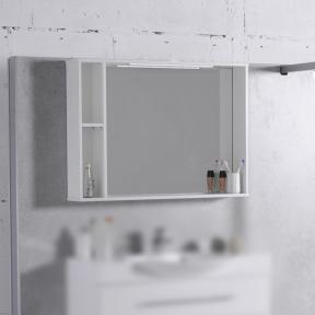 Зеркальный шкафчик MC-980 (ШЗ-980) Fancy Marble (Буль-Буль) белый