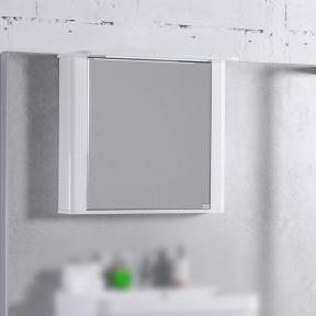 Зеркальный шкафчик MC Carla 800 (ШЗ-Carla 800) Fancy Marble (Буль-Буль)  белый