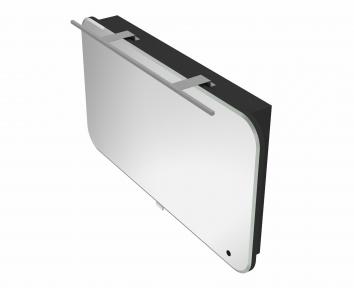 Зеркальный шкафчик BOTTICELLI Velluto VltMC -100 черный