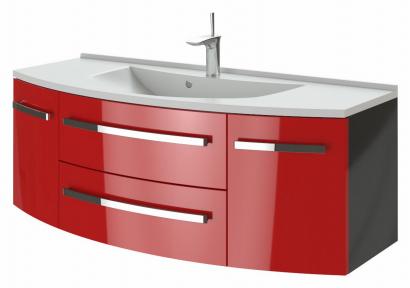 Тумба с умывальником BOTTICELLI Vanessa Vn-120 красный