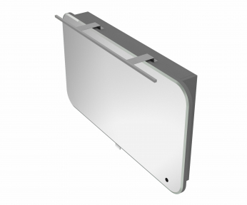 Зеркальный шкафчик BOTTICELLI Velluto VltMC -100 серый