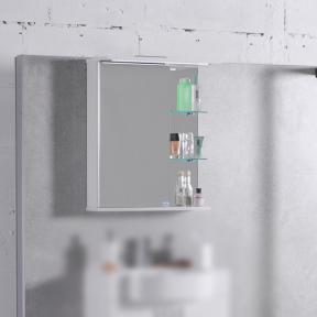 Зеркальный шкафчик MC-8 (ШЗ-8) Fancy Marble (Буль-Буль) белый