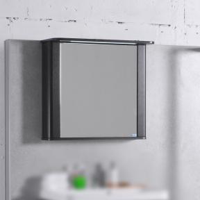Зеркальный шкафчик MC-Carla 800 (ШЗ-Carla 800) Fancy Marble (Буль-Буль) венге