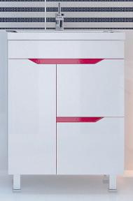 Тумба с умывальныком Леос SP60 т-3 Кварта-Техно розове