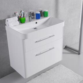 Тумба с умывальником Devon 80 (ШН-Carla 800) Fancy Marble (Буль-Буль) белая