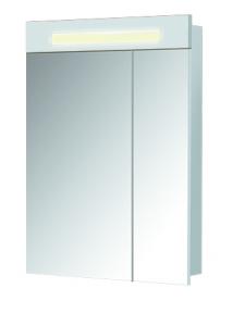 Зеркальный шкаф ПАРИЖ ЗШ-60 Белый