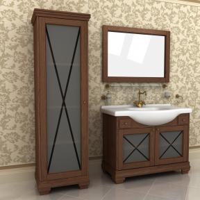 Зеркало Аква люкс 105 натуральный ясень