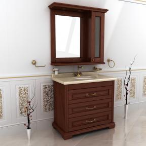 Зеркало Мрамор 100 натуральный ясень