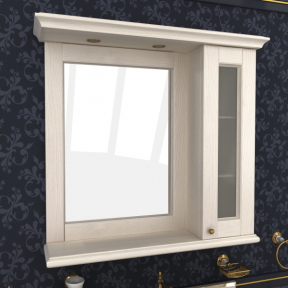 Зеркало Мрамор 100 выбеленный ясень