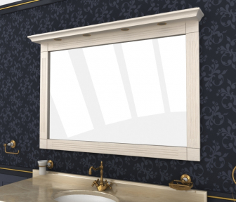 Зеркало Мрамор 130 выбеленный ясень