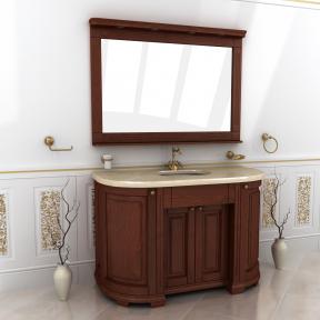 Зеркало Мрамор 140 натуральный ясень