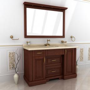 Зеркало Мрамор 150 натуральный ясень