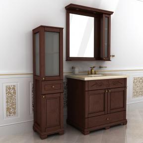 Зеркало Мрамор  90 натуральный ясень