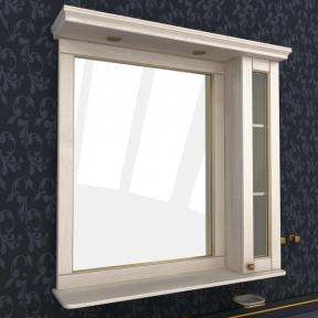 Зеркало Мрамор  90 выбеленный ясень