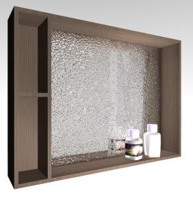 Зеркальный шкафчик MC-980 (ШЗ-980) Fancy Marble (Буль-Буль) венге