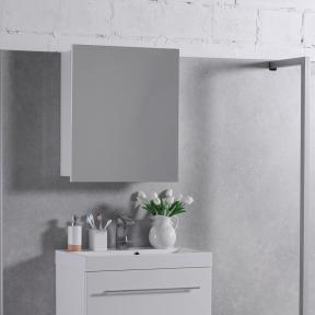 Зеркальный шкафчик MC-700 (ШЗ-700) Fancy Marble (Буль-Буль) белый