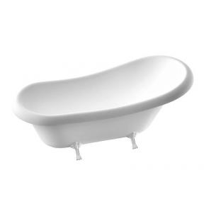 Ванна Fancy Marble Lady Hamilton на белых ножках, без слив/перелива