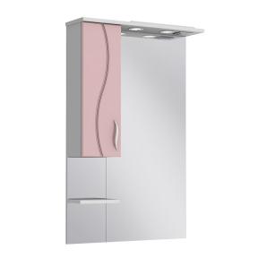 Зеркало Бриз БШНЗ2-65 розовое (левое)