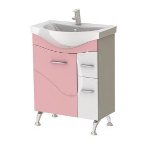 Тумба с умывальником Франческа Ф3-65 розовая