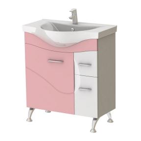 Тумба с умывальником Франческа Ф4-75 розовая