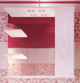 Дзеркало  Леос Z-2  Класик 70 Роза біла (R)